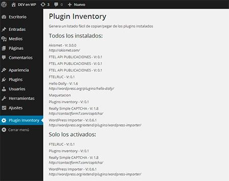 Programando un poco: Un listado fácil de los plugins en WordPress - Daniel Ribes